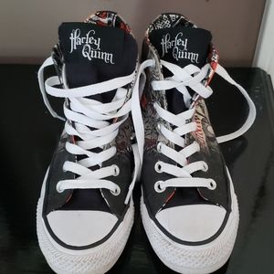 Limited Ed. Harley Quinn Converse. Women's Size 5.
